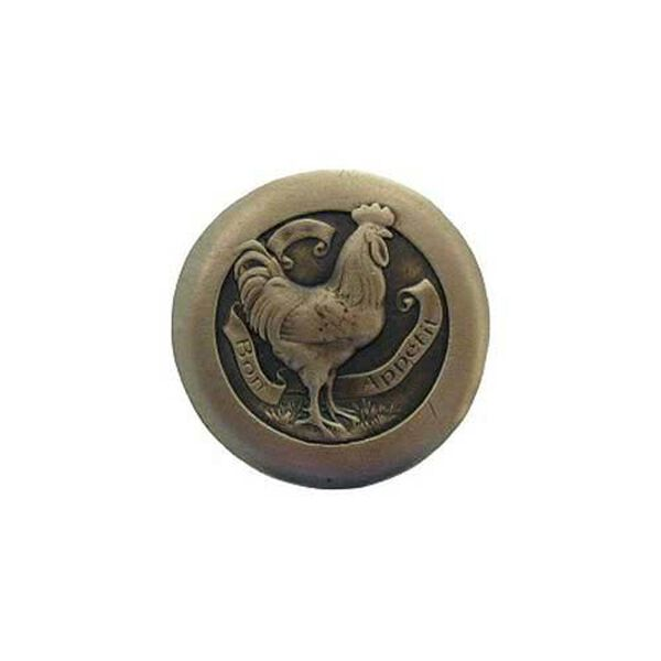 Antique Brass Rooster Knob , image 1
