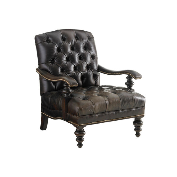 Tommy Bahama Upholstery Brown Acappella Leather Chair, image 1