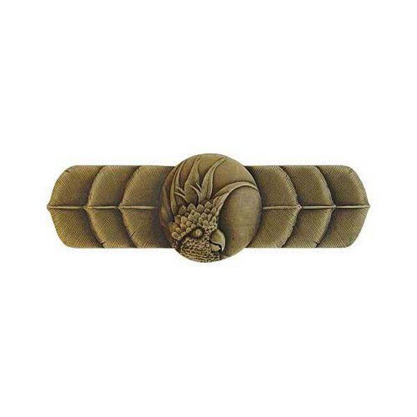 Antique Brass Cockatoo Horizontal Pull-Left, image 1