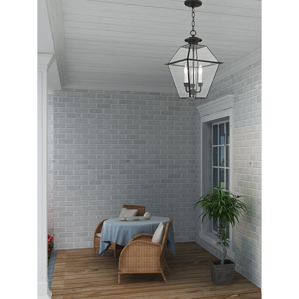 Westover Black Three-Light Outdoor Chain Hang, image 6