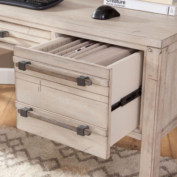 Aurora Whitewash 60-Inch Storage Desk, image 4
