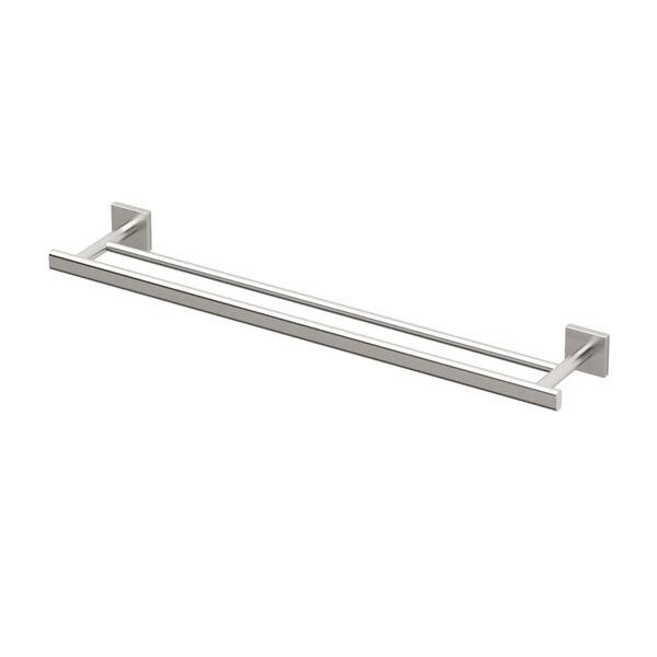 Elevate Satin Nickel Double Towel Bar, image 1