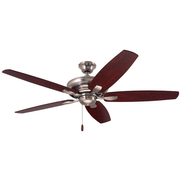 Pro Series Brushed Steel Three Light Ceiling Fan, image 4