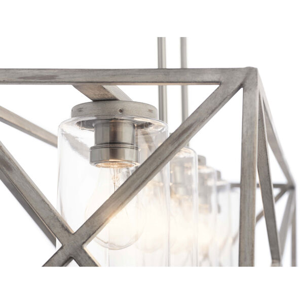 Moorgate Distressed Antique White Five-Light Chandelier, image 2