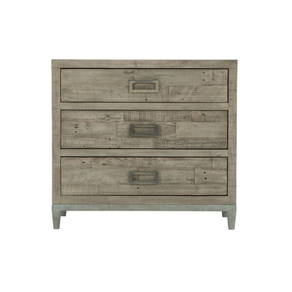 Glazed Silver and Brown 32-Inch Loft Shaw Nightstand, image 2