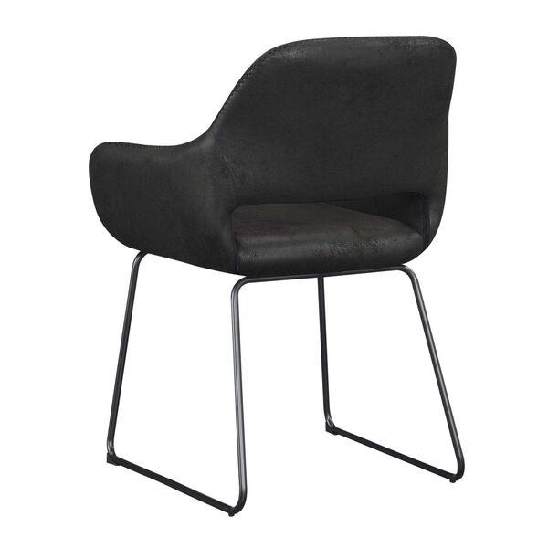 Samantha Antique Black Accent Chair, image 5