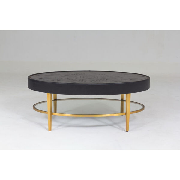 Ellipse Black and Gold Cocktail Table, image 1