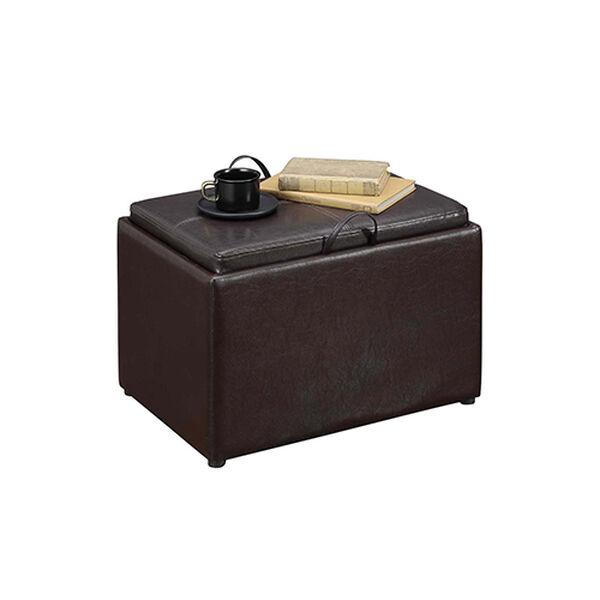 Designs4Comfort Espresso Accent Storage Ottoman, image 5