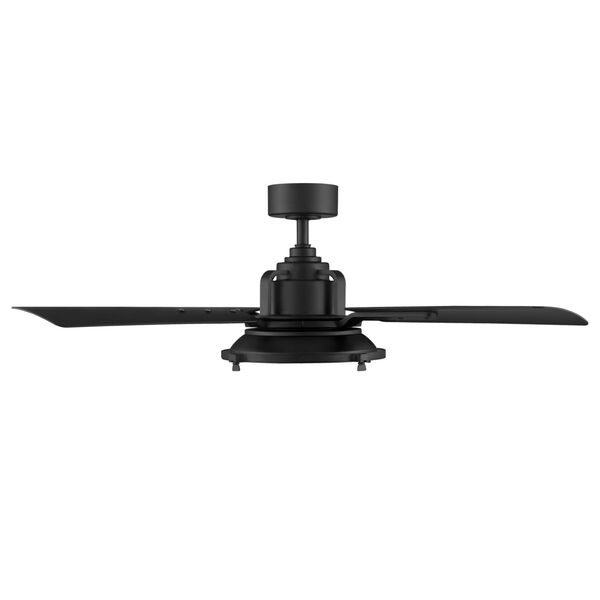 Nautilus Matte Black 56-Inch ADA LED Ceiling Fan, image 4