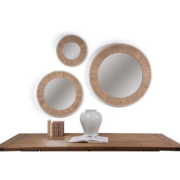 White 30 x 30 Inches Circular Wood Mirror, image 3