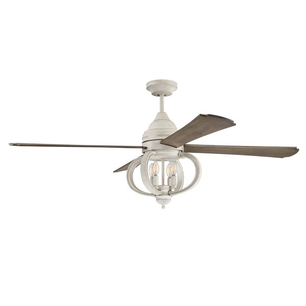 Augusta Cottage White Four-Light Led 60-Inch Ceiling Fan, image 1