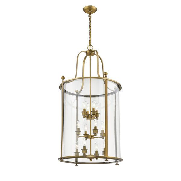 Wyndham Heirloom Brass 12-Light Chandelier With Transparent Glass, image 4