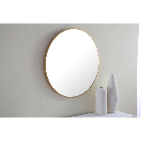 Eternity Brushed Brass Round 24-Inch Mirror, image 5