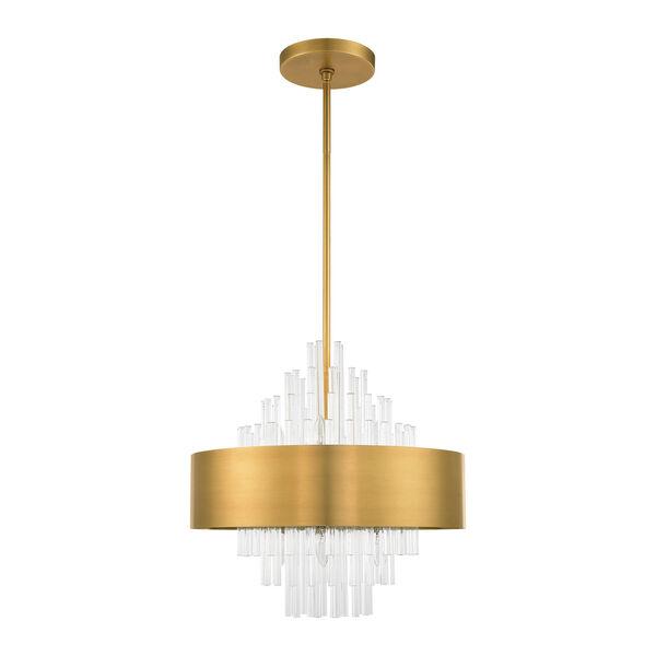 Orenburg Natural Brass Eight-Light Pendant, image 2