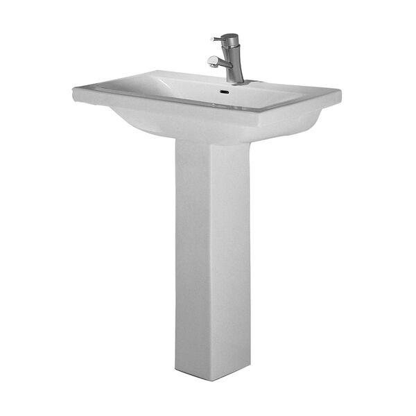 Mistral White 4-Inch Spread Pedestal Sink, image 1