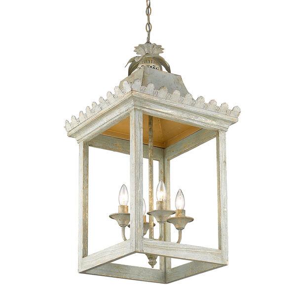 Finley Vintage Sage Four-Light Pendant, image 4
