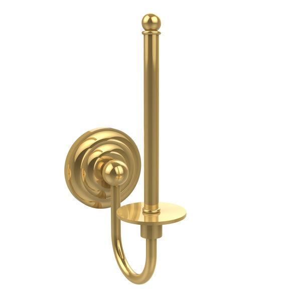 Polished Brass Upright Toilet Paper Holder, image 1