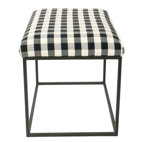 Black and White 22-Inch Ottoman, image 4