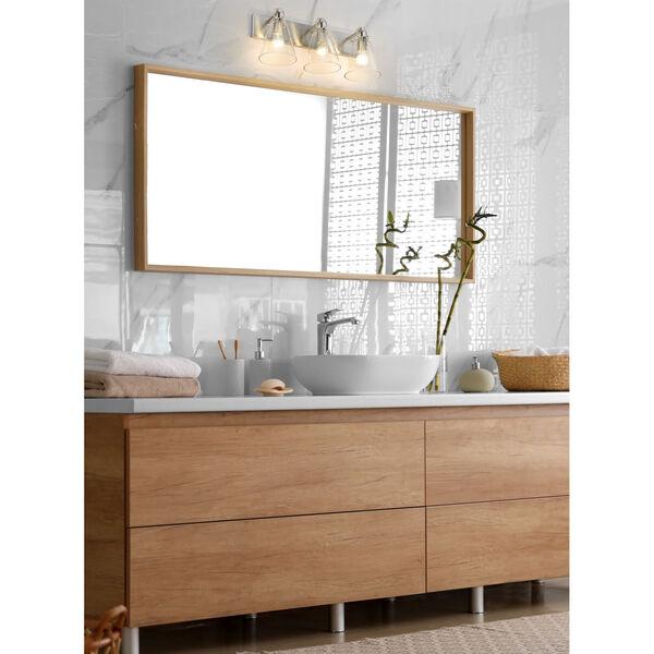 Harper Brushed Nickel Three-Light Bath Vanity - (Open Box), image 3