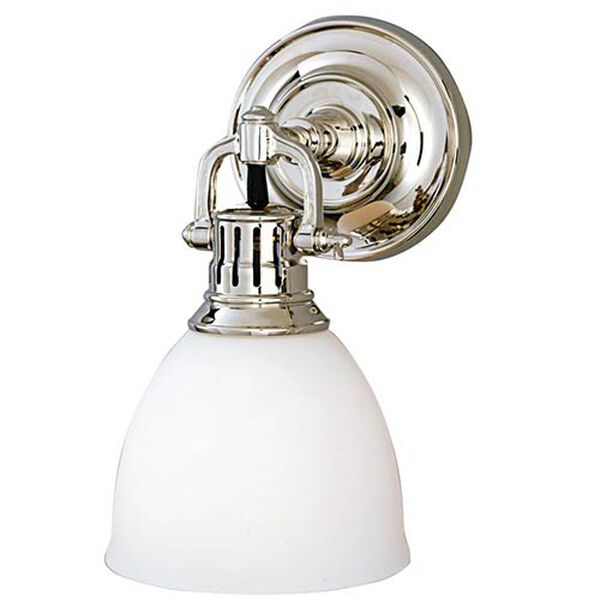 Pelham Polished Nickel One-Light Sconce, image 1