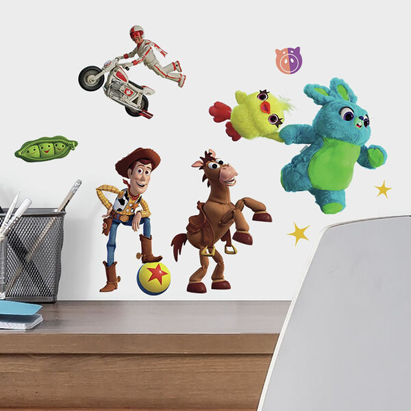 Toy Story 4 Green, Blue, Yellow Peel and Stick wall Decal - SAMPLE SWATCH ONLY, image 1