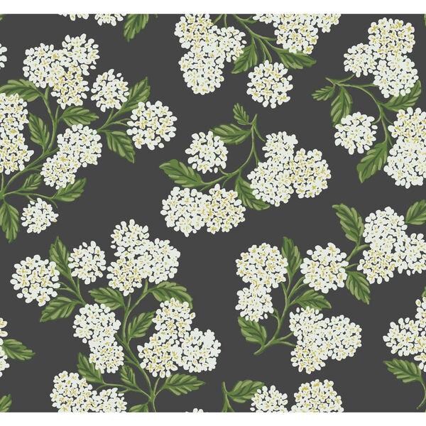 Rifle Paper Co. Black and White Hydrangea Wallpaper, image 2