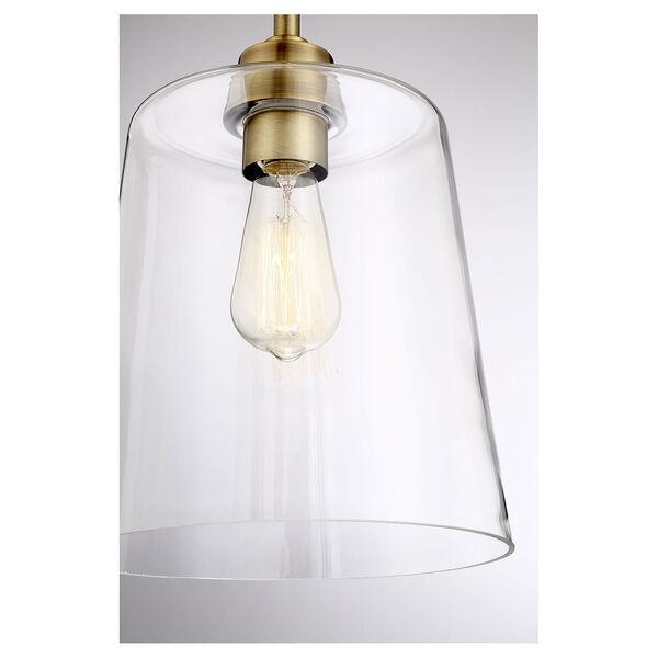 Nicollet Natural Brass 10-Inch One-Light Semi Flush Mount, image 5