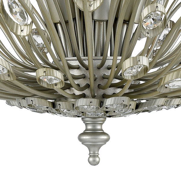 Mullica Aged Silver Six-Light Chandelier, image 4
