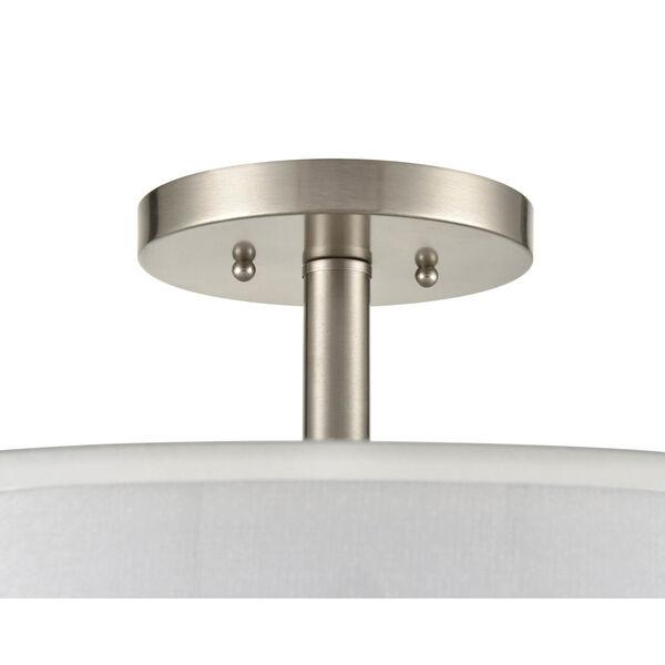 Madison Brushed Nickel 18-Inch Three-Light Semi Flushmount, image 4