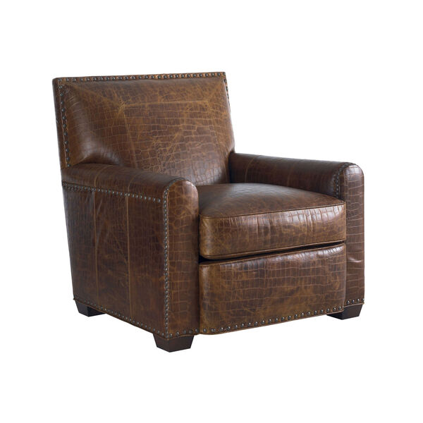 Tommy Bahama Upholstery Brown Stirling Park Leather Chair, image 1