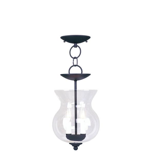 Heritage Black Two-Light Convertible Semi-Flush, image 1