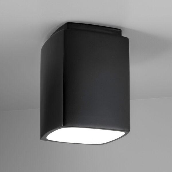 Radiance Carbon Matte Black Rectangle GU24 LED Outdoor Flush Mount, image 2