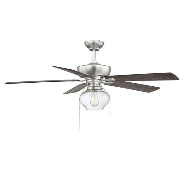 Lex Brushed Nickel LED Ceiling Fan, image 3