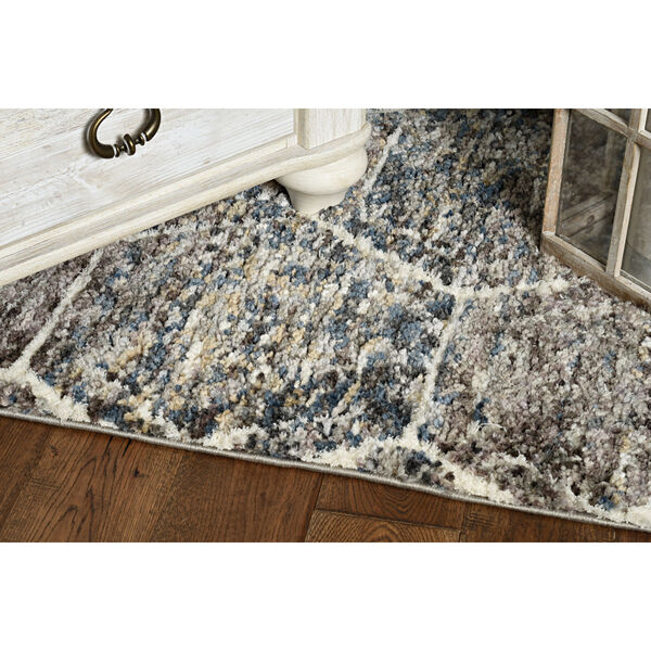 Bungalow Gray and Teal Runner: 2 Ft. 2 In. x 7 Ft. 6 In. Rug, image 3
