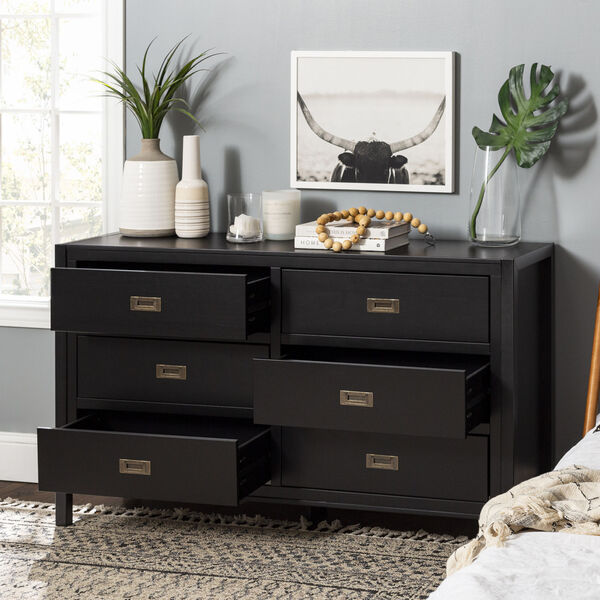 Lydia Black Dresser with Six Drawer, image 2