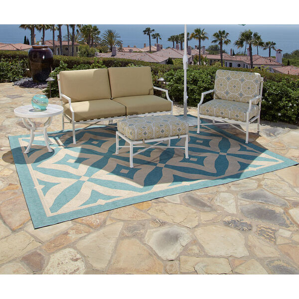 Charleston Spa and Beige Outdoor Rug, image 2