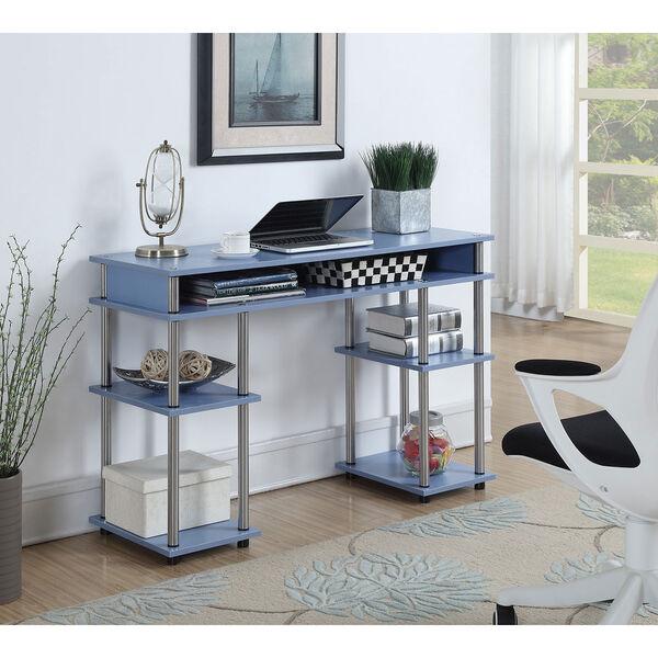 Designs2Go Blue No Tools Student Desk, image 1