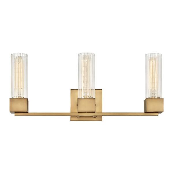 Xander Heritage Brass Three-Light Bath Vanity, image 1