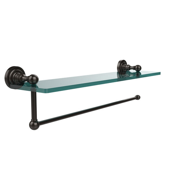 Dottingham Collection Paper Towel Holder with 22 Inch Glass Shelf, Oil Rubbed Bronze, image 1