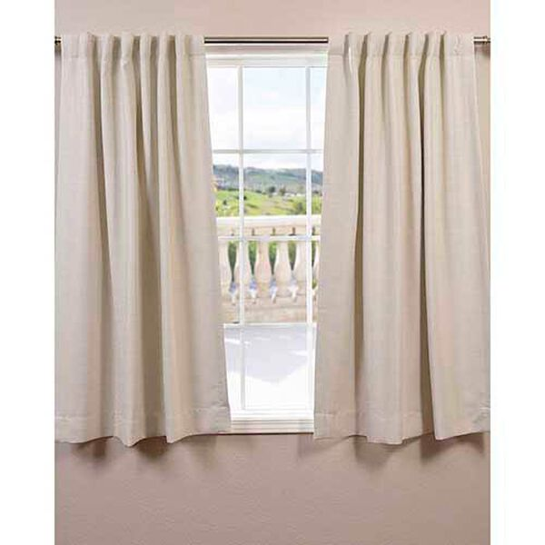 Cottage White 63 x 50-Inch Bellino Blackout Curtain Single Panel, image 1