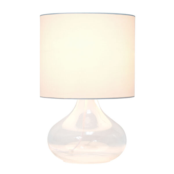 Cerise Clear White One-Light Raindrop Table Lamp, image 2