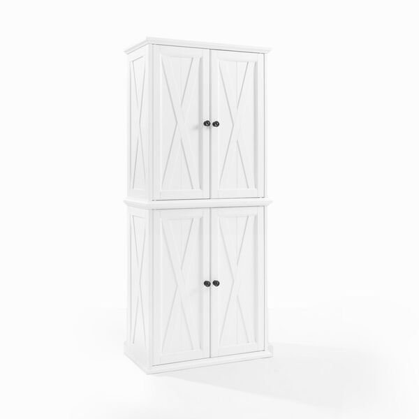 Clifton Distressed White Tall Kitchen Pantry, image 4