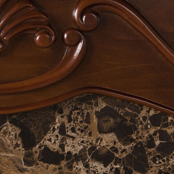 Cardona Walnut Electric Fireplace with Faux Marble, image 3