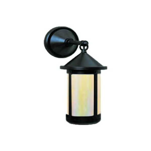 Berkeley Wide Gold White Iridescent Outdoor Wall Mount, image 1