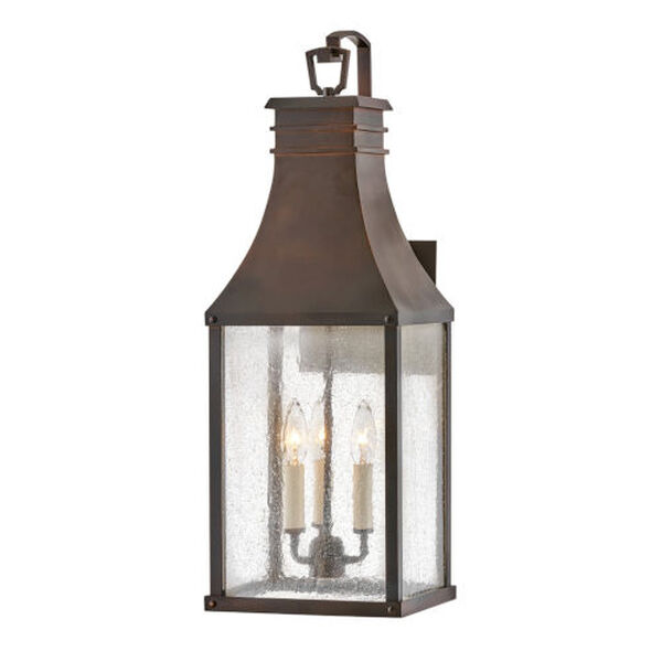 Beacon hill Blackened Copper Three-Light Outdoor Wall Mount, image 1