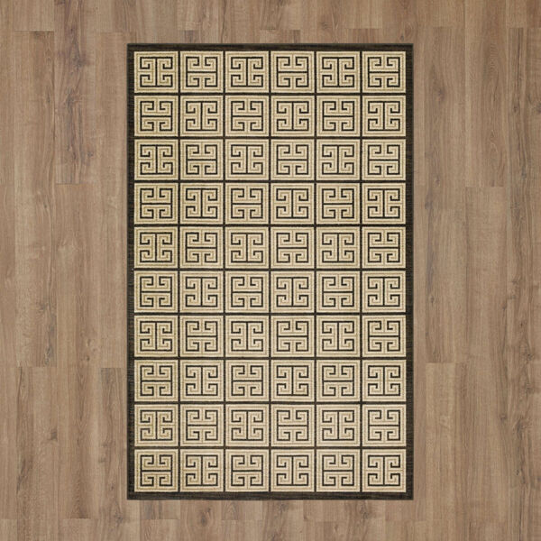 Meander Gray Charcoal Geometric Rectangular: 3 Ft. x 5 Ft. Area Rug, image 2