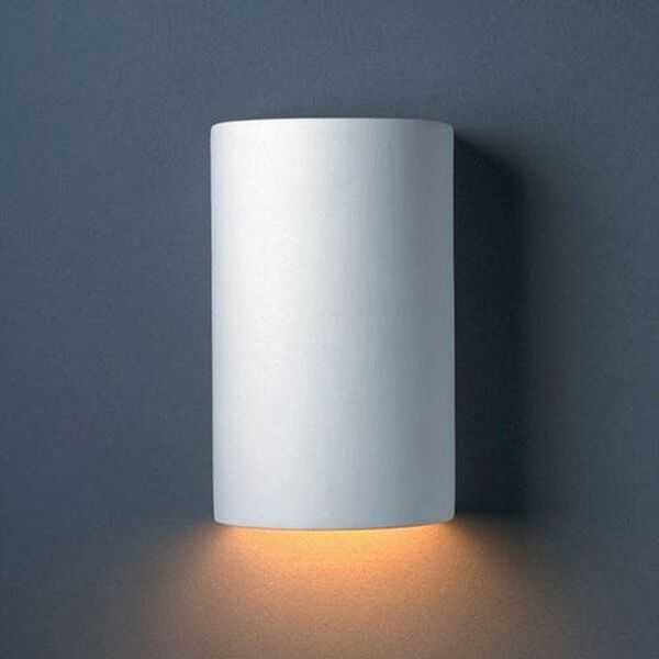 Ambiance Bisque Small Cylinder Outdoor Wall Sconce, image 1