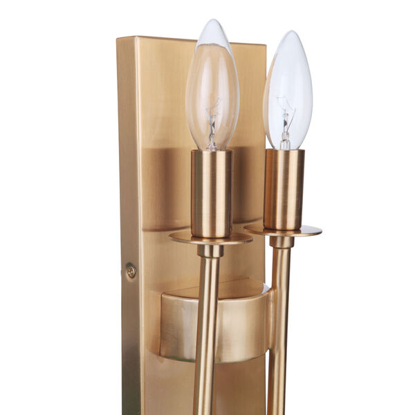 Larrson Satin Brass Two-Light Wall Sconce, image 6