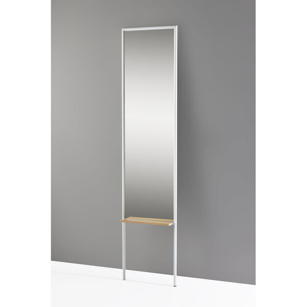 Monty White and Natural Leaning Mirror, image 2