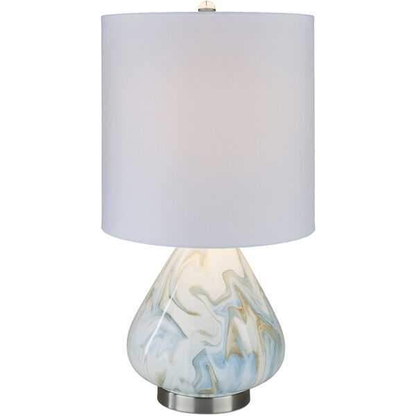 Orleans White and Blue One-Light Table Lamp, image 2